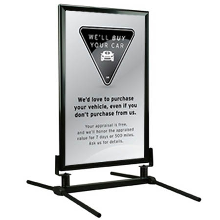 curb sign we 39 ll buy your car luxury. Black Bedroom Furniture Sets. Home Design Ideas
