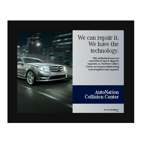 Poster collision center technology mercedes benz for Mercedes benz collision center
