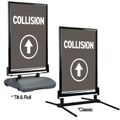 Directional Curb Sign – Collision