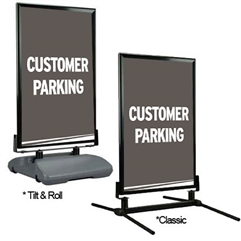 Directional Curb Sign – Customer Parking