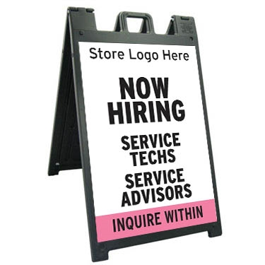 Now Hiring A-Frame with Store Logo