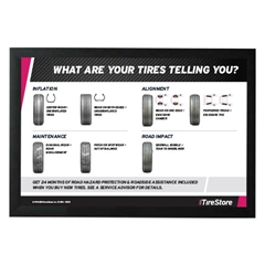 AutoNation Tire Wear Horizontal Poster