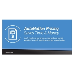 AutoNation Pricing Vinyl Banner