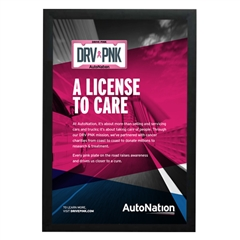 AutoNation Poster Drive Pink Charity