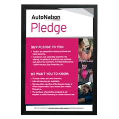 AutoNation Pledge Poster