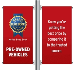 AutoNation Pre Owned Pole Banner Carfax