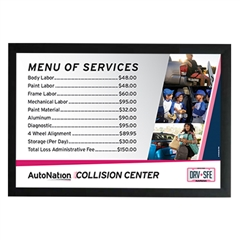 Poster- Collision Center Menu of Services-Version 1