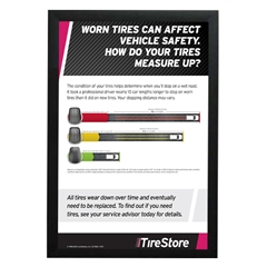 Tire Stopping Distance Poster