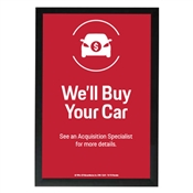 EMT We'll Buy Your Car Poster-Porsche