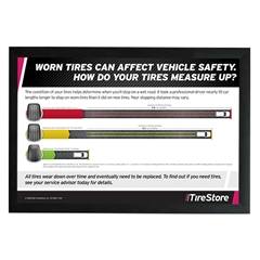 Tire Stopping Distance Horizontal Poster